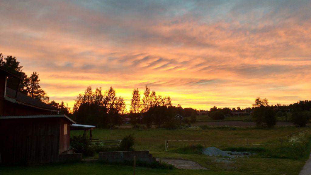 Så här var vacker var himlen när firandet var över!
